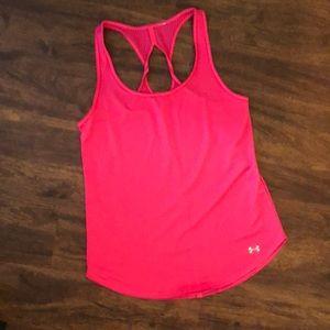 Neon Pink Under Armour Tank Top S